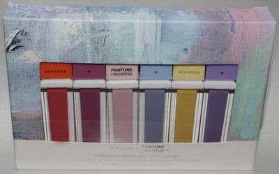 Sephora + Pantone Universe Modern Watercolors Lip Gloss Set 6 x 0.14 oz