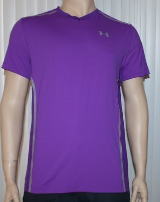 Under Armour VENT UA HeatGear Men's Purple Pride Fitted Shirt -Large