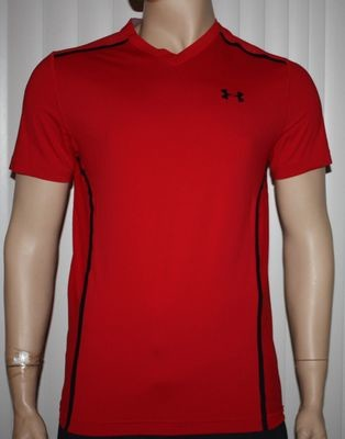 Under Armour VENT UA HeatGear Men's Red/Black Fitted Shirt (Large)