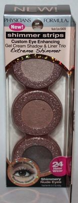 Physicians Formula Shimmer Strips Gel Cream Shadow & Liner Trio 6409 Nude Eyes