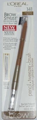 L'Oreal Brow Stylist Professional 3-in-1 Brow Tool .02 oz #341 LIGHT BROWN