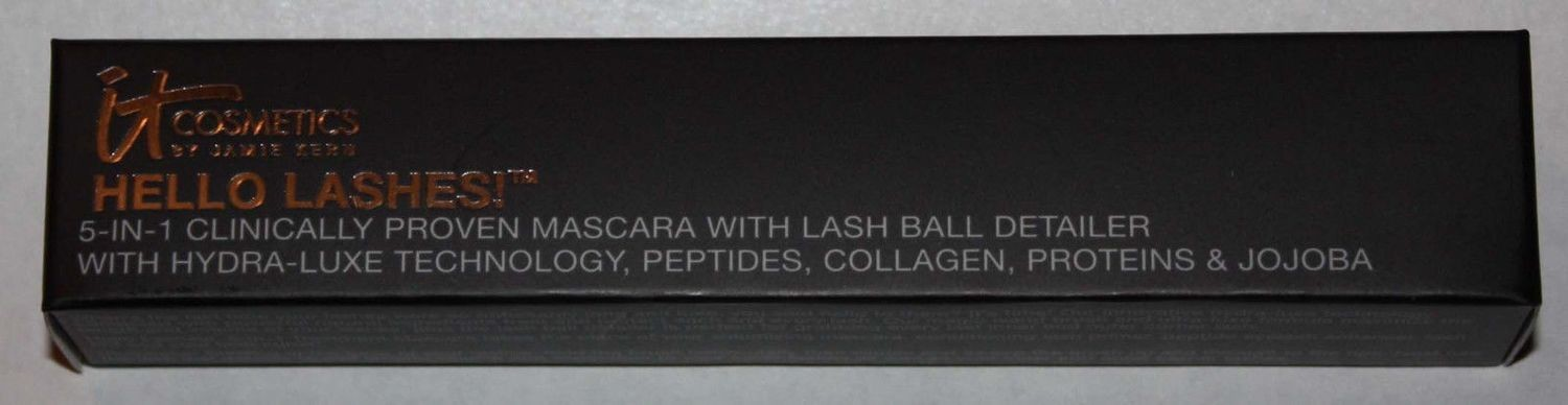 It Cosmetics HELLO LASHES! 5-in-1 Black Mascara With Lash Ball Detailer 0.33 oz