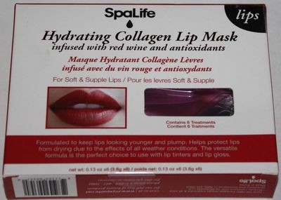 Spalife Hydrating Collagen Lip Mask Infused With Red Wine & Antioxidants
