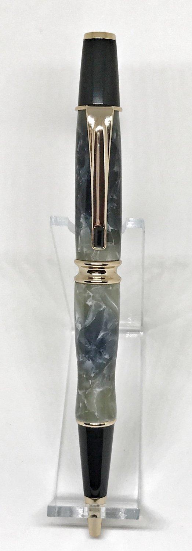 Babbio Gold Pen in Black/Silver
