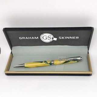 Bailey Chrome Pen in Yellow/Green