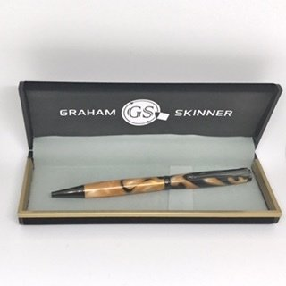 Bailey Gunmetal Pen in Orange