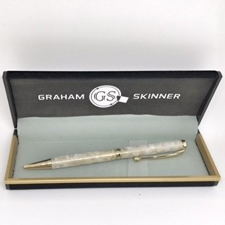 Bailey Gold Pen in Crushed Pearl