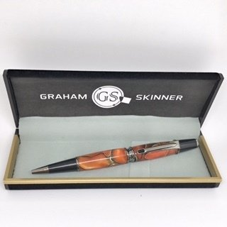 Babbio Gunmetal Pen in Orange