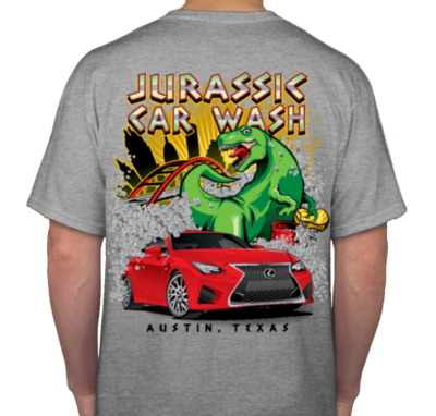 Jurassic Car Wash T-Shirt (XXL)