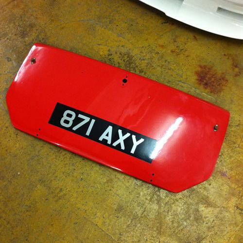 Austin A40 Farina Countryman Fibreglass bootlid 00019