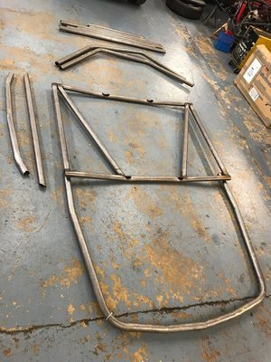 Jensen CV8 weld in 6 point roll cage FIA/MSA