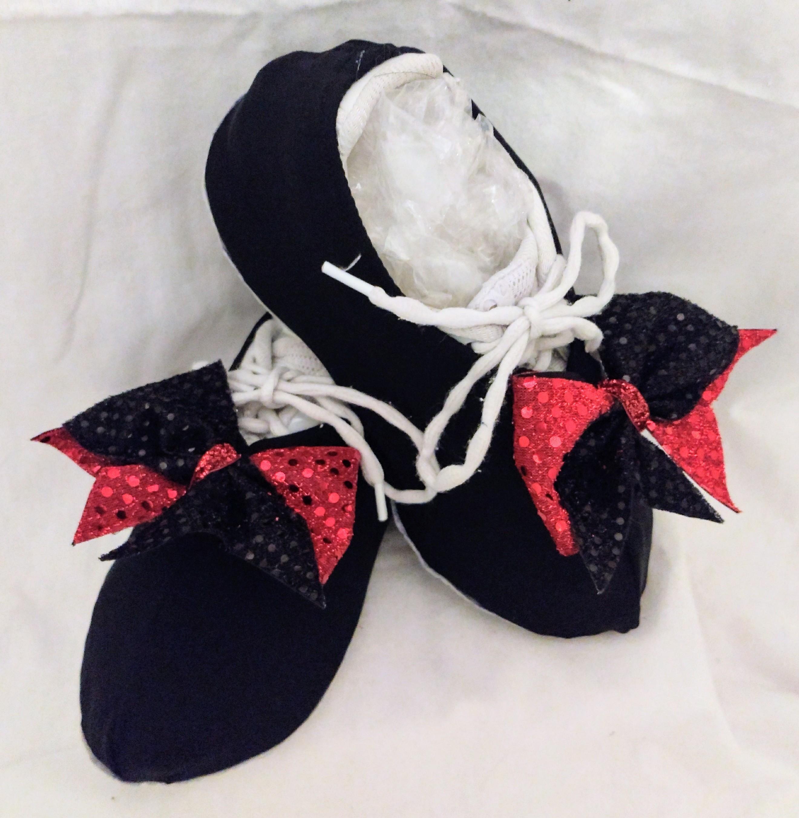 Basic Black Shouter Wear Cheer Shoe Covers