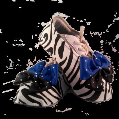 Zebra Shouter Wear Cheer Shoe Covers