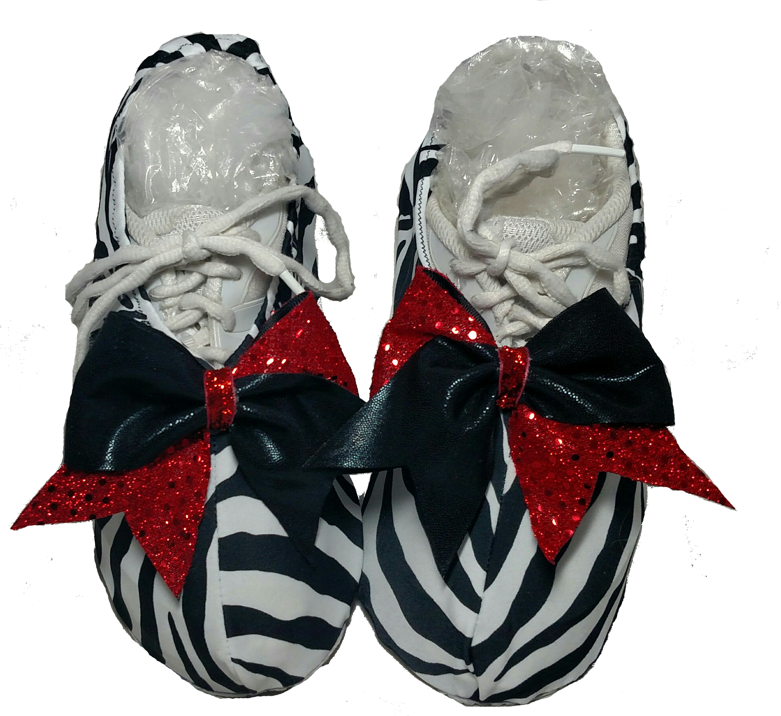 Zebra w/Red & Black sequin