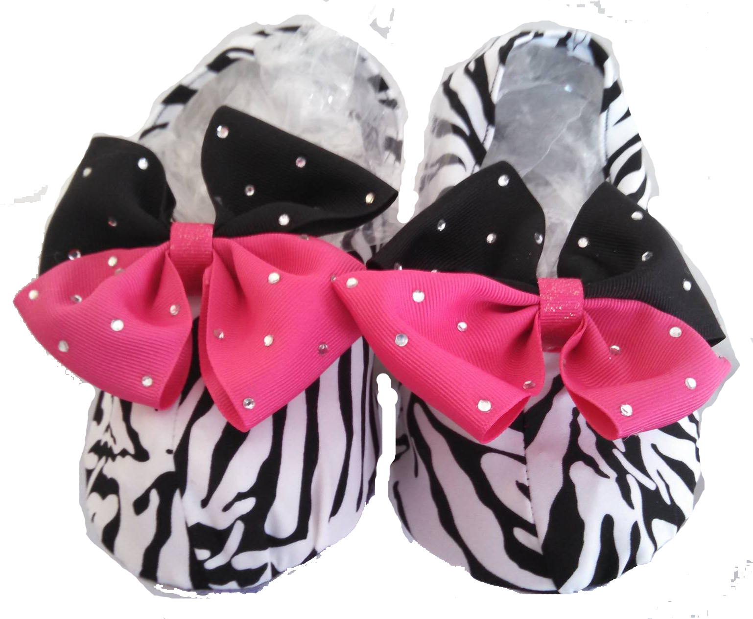 Zebra w/ Pink & Black bling