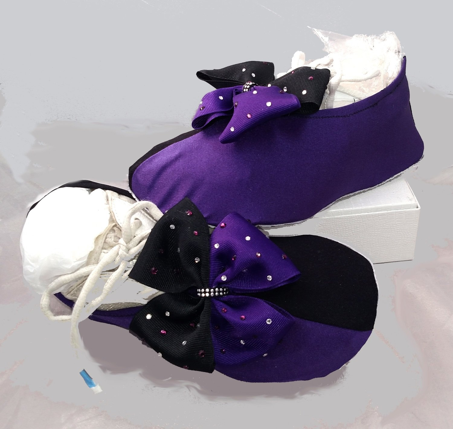 Two Tone Cheer Shoe Covers