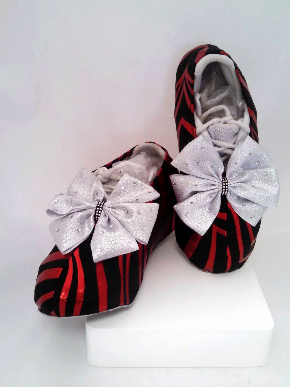 Zulu Zebra Cheer Shoe Covers SW-ZUL