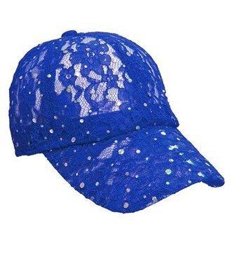 Lacey Glitter Cap - Blue
