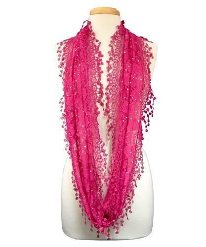 Lacey Infinity Scarf - Hot Pink JG-SCH-X