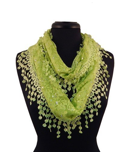 Lacey Infinity Scarf - Lime JG-LSL-X