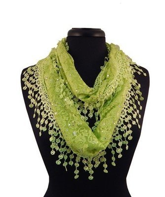 Lacey Infinity Scarf - Lime
