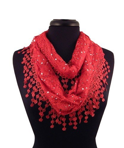 Lacey Infinity Scarf - Red