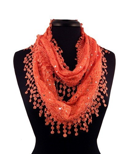 Lacey Infinity Scarf - Orange JG-LSO-X