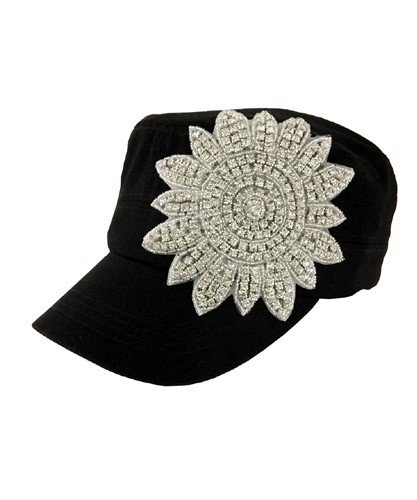 Crystal Flower Cap - CLEARANCE