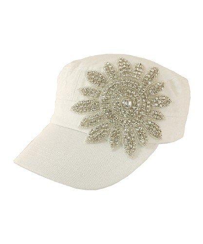 Crystal Flower Cap - CLEARANCE JG-CFW-X