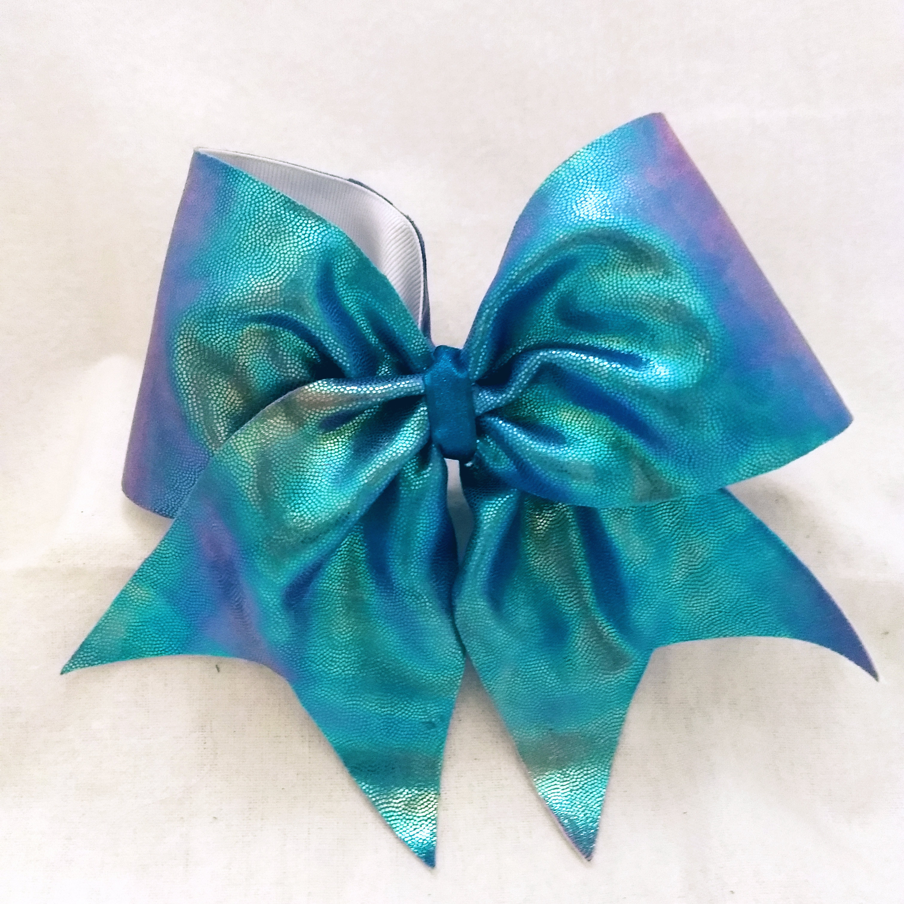 Aqua Tones Tie-Dye Cheer Bow
