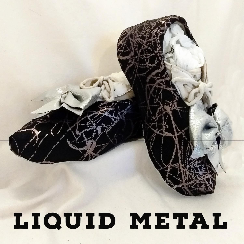 Liquid Metal Cheer Shoe Covers