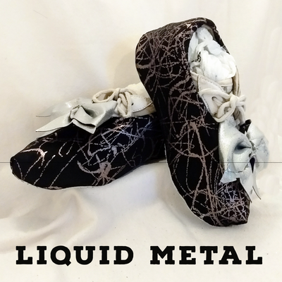 Liquid Metal Cheer Shoe Covers
