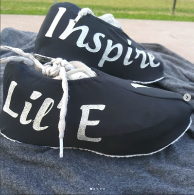 Inspired by YOU Cheer Shoe Covers