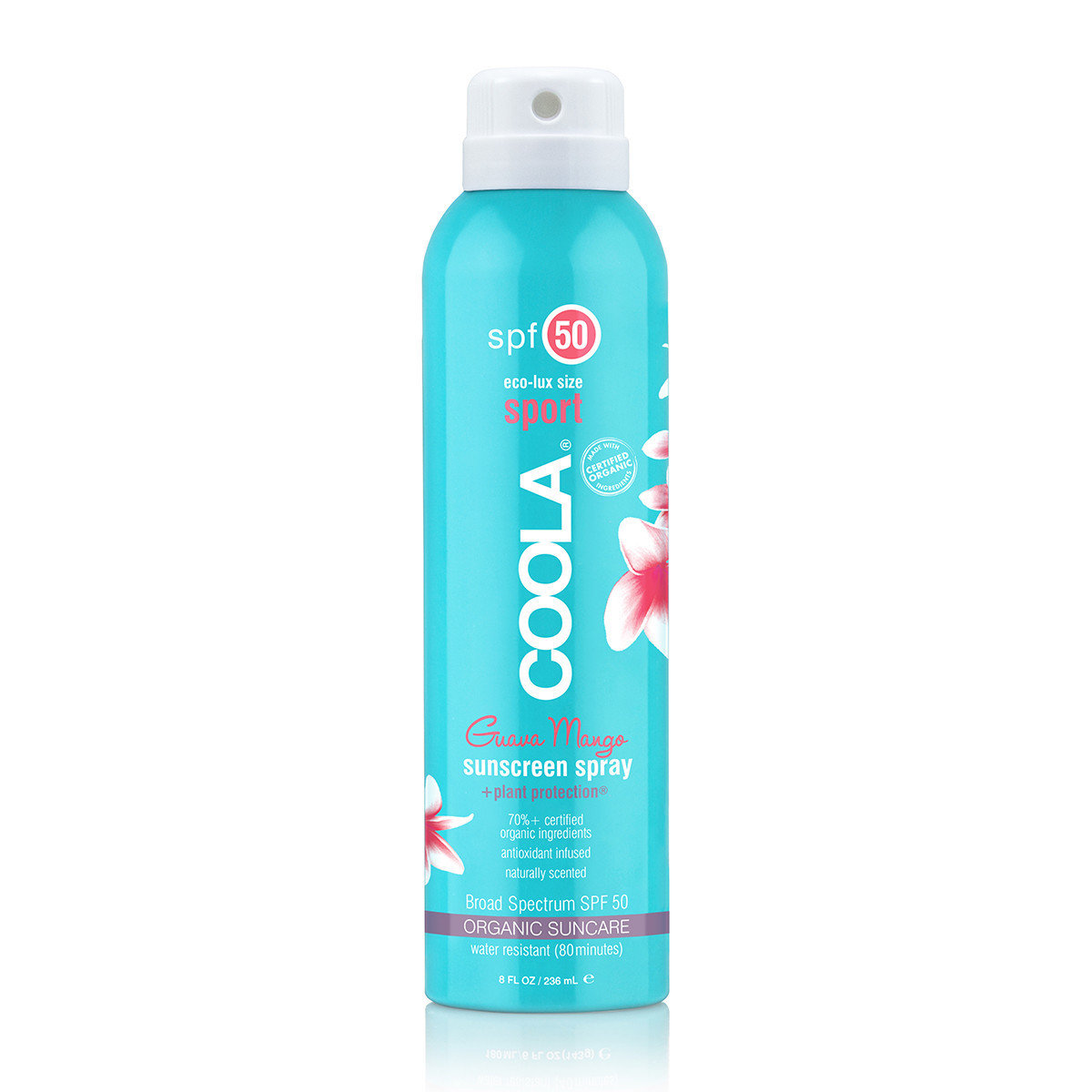 ECO-LUX 8OZ SPORT SPF 50 GUAVA MANGO SUNSCREEN SPRAY