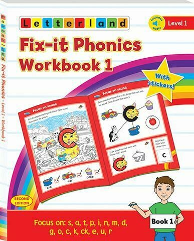 Fix-it Phonics Level 1 Workbook 1& 2 (2nd Edition) (рабочая тетрадь)