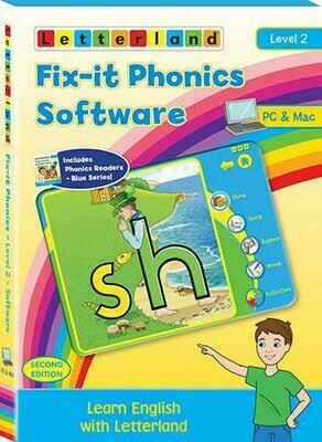 Компьютерная программа Fix-it Phonics Software Level 2  Volume  (6-8 лет)  - до 30 компьютеров