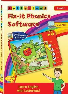 Компьютерная программа Fix-it Phonics Software Level 1 Volume (5-7 лет) - до 30 компьютеров