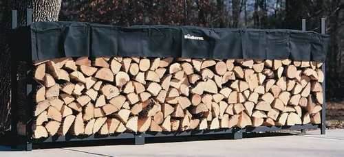 The Woodhaven 12ft Firewood Rack