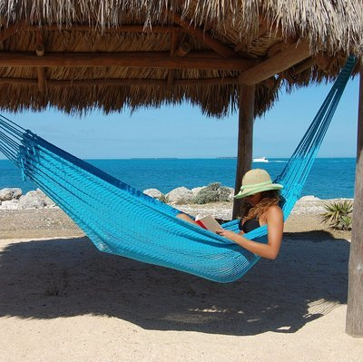 Double Mayan Hammock (light blue)