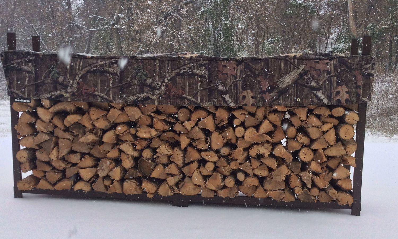 Mossy Oak 1/2 Cord Woodhaven Firewood Rack Plus