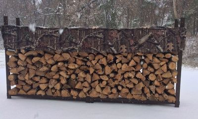 Mossy Oak 1/2 Cord Woodhaven Firewood Rack Plus