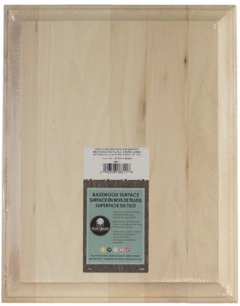 """Wide Edge Basswood Rectangle - 11"""" W x 14"""" L"""