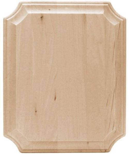 "Basswood French Corner Wide Edge Plaque - 8"" W x 10"" L"