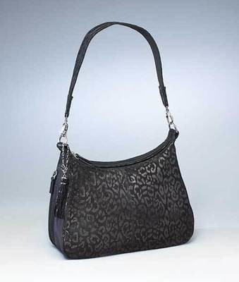 GTM-0072LE Black Leopard Embossed Hobo
