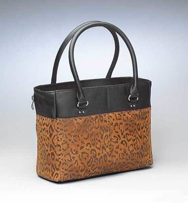 GTM-0063DB Lep Tan Tote Debossed Sueded Leather Tan