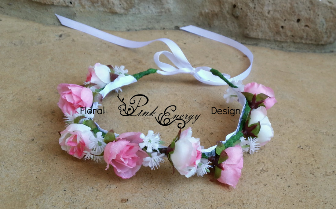 Silk Flower Crown - Baby Size (Ready to Ship) c1bf0969d83