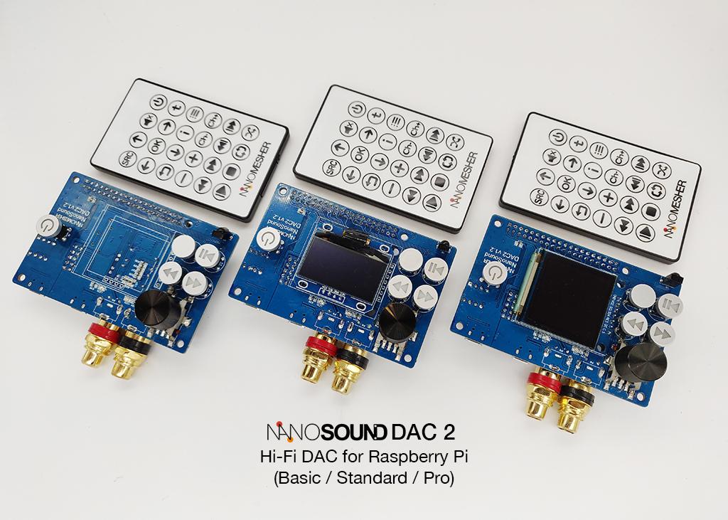 NanoSound DAC 2 (Basic / Standard / Pro) NSOUNDDAC2