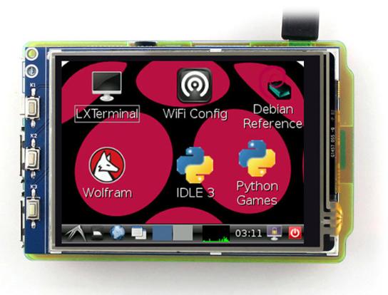 Waveshare 3.2inch RPi LCD (B), 320×240 WS32RPiLCDB