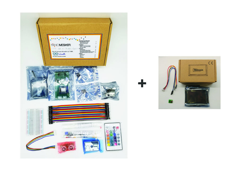 "Dev and Sensors Kit for Arduino with 3.2"" HMI IOTKit32"