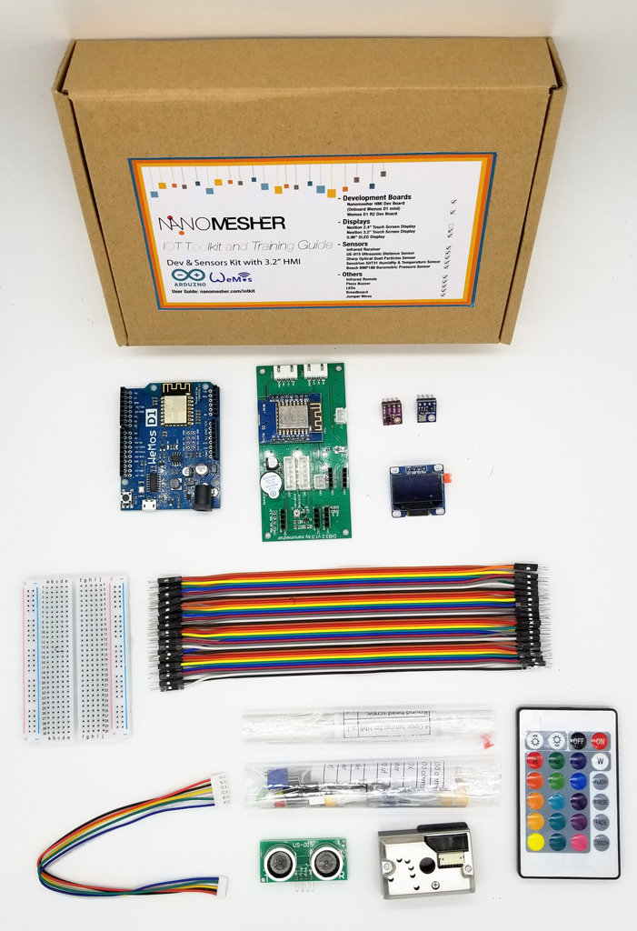 "Dev and Sensors Kit for Arduino with 2.4"" HMI"